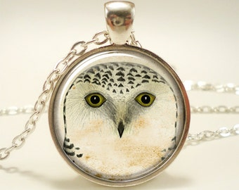Owl Necklace, Woodland Forest Animal Jewelry (1639S1IN)