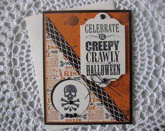 Handmade Greeting Card: Creepy Crawly Halloween