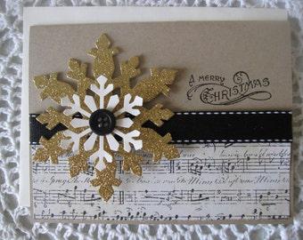 Handmade Greeting Card: Vintage Christmas