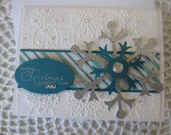 Handmade Greeting Card: Sending Christmas Wishes