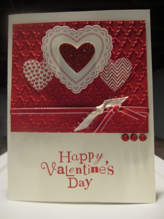 Handmade greeting card happy valentines day etsy m4hsunfo