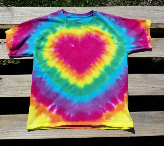 a9b316db80be Toddler Rainbow Heart Tie Dye Shirt 2T 3T 4T Toddler Girl
