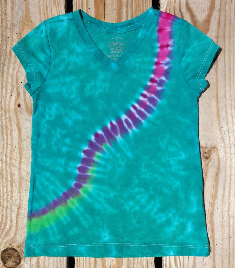 51633f9c9730b Cotton T Shirt Dress LAT Brand Size is marked as Large/ X Large Hand tied  and dyed in fun Rainbow Fan pattern to give a fun and funky vibe!