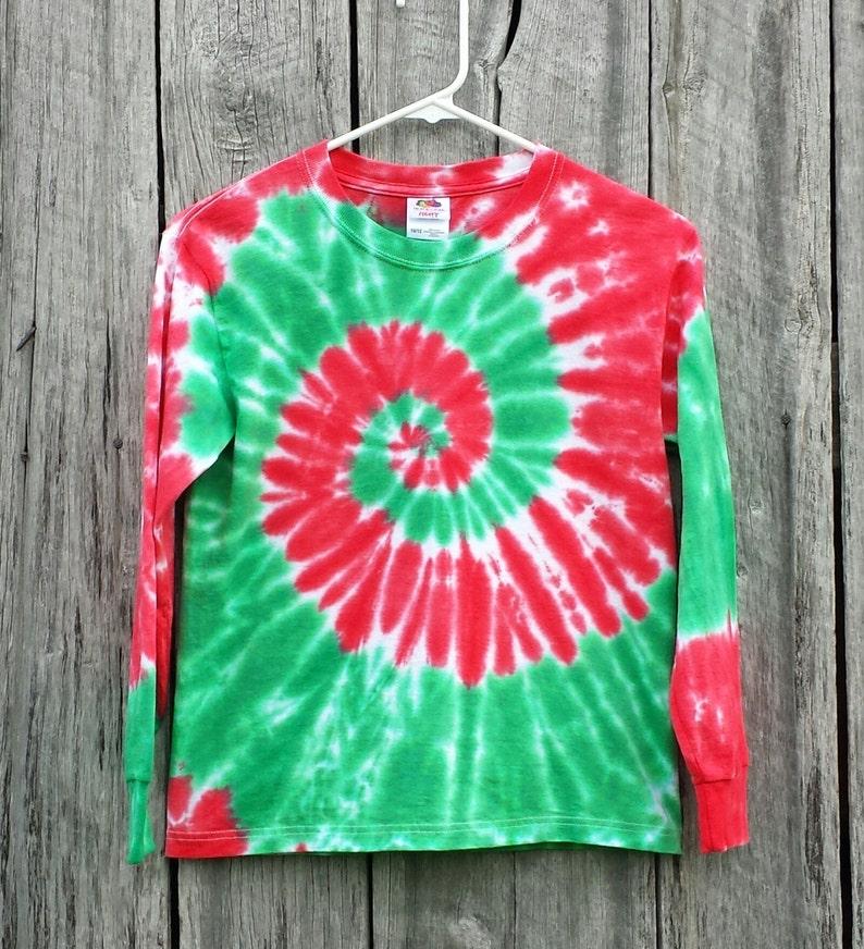Adult Christmas Long Sleeve Tie Dye Shirt S M L XL 2XL 3XL  4e0467cf3