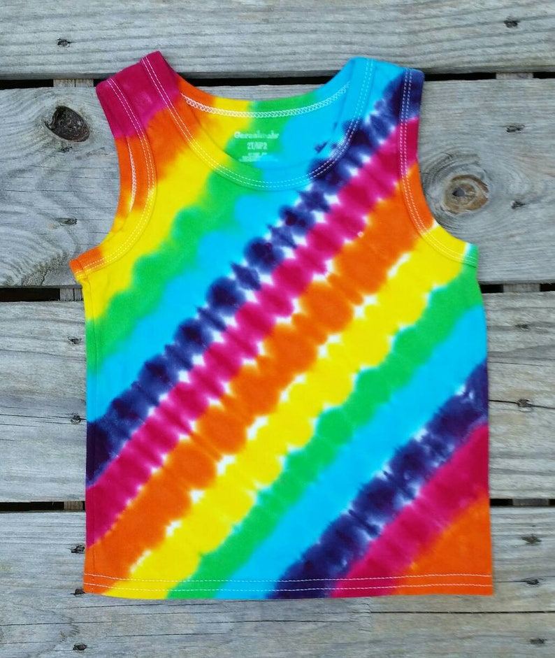 d85c7e44eac7a Toddler Girls Rainbow Tie Dye Tank Top, 2T, Girls Sleeveless Top, Tie Dye  Tee, Hippie Kids, Ready to Ship, Toddler Tie Dye Shirt, Tie Dye