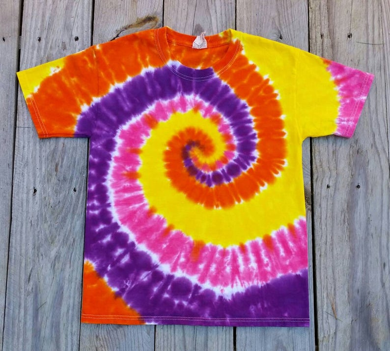 914836dad81b7 Girls Tie Dye, S M L XL, Pink Purple Yellow Orange Tie Dye Shirt, Girls Tie  Dye Tshirt, Girls Top, Tie Dye Tee