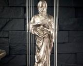 """Kinetic Maglev Sculpture - Bismuth Metal Art  """"The Alchemist"""""""