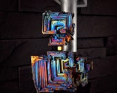 "Kinetic Crystal Sculpture OOAK  ""Picasso's Prisms""  Bismuth Magnetic Levitation - Kinetic Geode Sculpture"