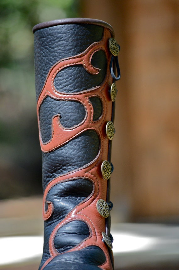 Custom Boots Leather Boots Knee High