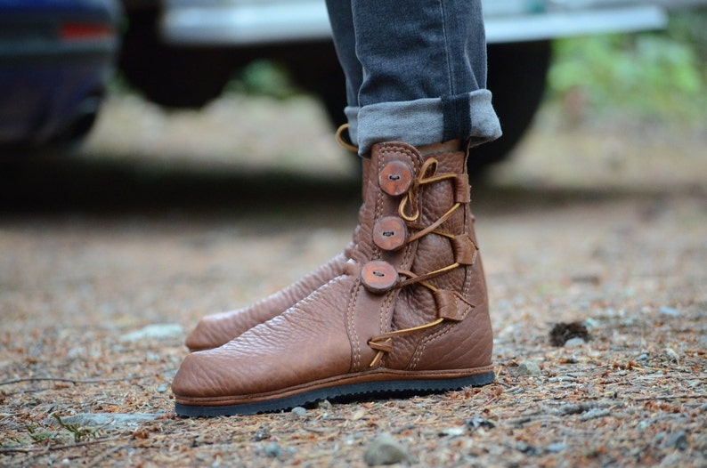 Custom Leather Boots Double Tobacco