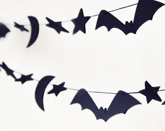 Halloween decorations - Halloween garland - outdoor Halloween decorations - bat garland - Halloween home decor - rustic Halloween decor