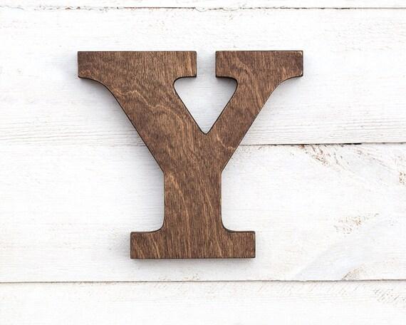 Lettere Di Legno Da Appendere : Lettera di legno per la parete lettera autoportante lettere etsy