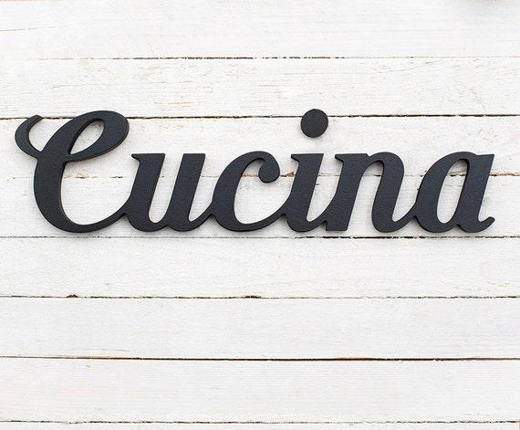 Cucina sign italian kitchen italian wall art kitchen | Etsy