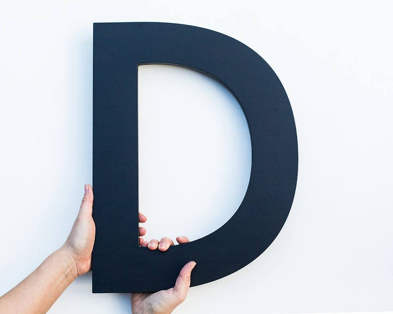 Large Wall Letters Black Wood Letters Big Letters For Wall Etsy