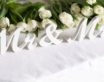 Mr and Mrs for sweetheart table - wedding signs - mr and mrs sign - sweetheart table decor - sweetheart table sign - wedding table sign