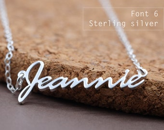 Custom Name Necklace-Personalized Name Necklace-Custom Name Gift-Your Name Necklace-Bridesmaids Jewelry-Children Names-Gift for mom. #NF06