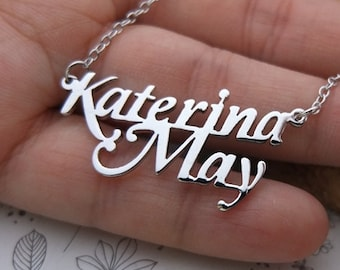 Custom Name Necklace-Personalized Name Necklace-Custom Name Gift-Your Name Necklace-Bridesmaids Jewelry-Children Names-Gift for mom. #NF13