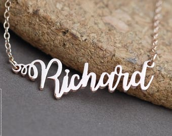 Personalized Name Necklace-Custom Name Necklace-Custom Name Gift-Your Name Necklace-Bridesmaids Jewelry-Children Names-Birthday Gift. #NF46