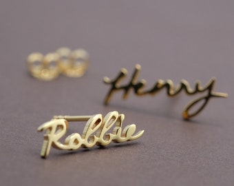 Custom name earrings - Personalized name earrings - earrings stud- Birthday gift-Graduation-Wedding- Christmas gift.#ER39