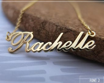 Personalized Name Necklace-Custom Name Necklace-Custom Name Gift-Your Name Necklace-Bridesmaids Jewelry-Children Names-Birthday Gift. #NF02