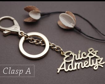 Personalized Name Key chain with clasp  - Custom Name Key chain - Custom Name Key Ring - Custom Name Gift  #KC51