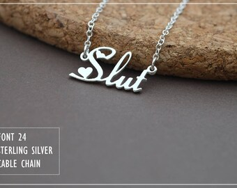 Custom Name Necklace-Personalized Name Necklace-Custom Name Gift-Your Name Necklace-Bridesmaids Jewelry-Children Names-Gift for mom. #NF24