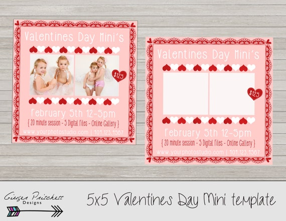 Valentines Day Mini Session Template Mini Session Flyer Etsy
