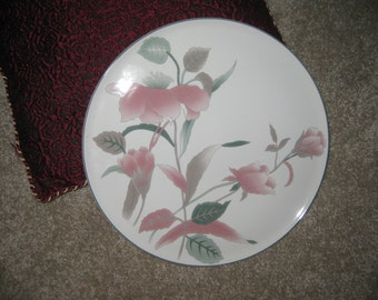 Mikasa silk flowers etsy mikasa silk flowers cake plate mint condition 12 inches mightylinksfo