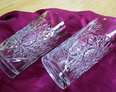 Libbey Hobstar Cut Crystal Barware Highball Heavy Crystal Glasses Set of 2 included Very Good Bar Supply China Galore