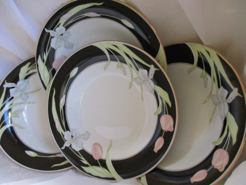 Wedding China Vintage China Set of 4 included Very good China Galore TWO sets available Fairfield Vanessa Coupe Soup bowls