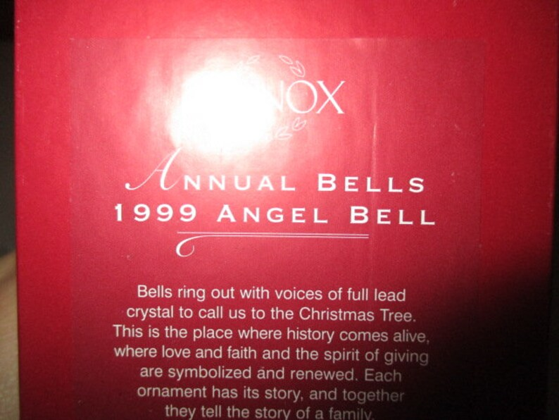 China Galore 1999 Lenox Angel Annual Bell IOB Angel bells Lenox collectibles Near Mint Hard to find Bell  decor Lenox Annual Bells