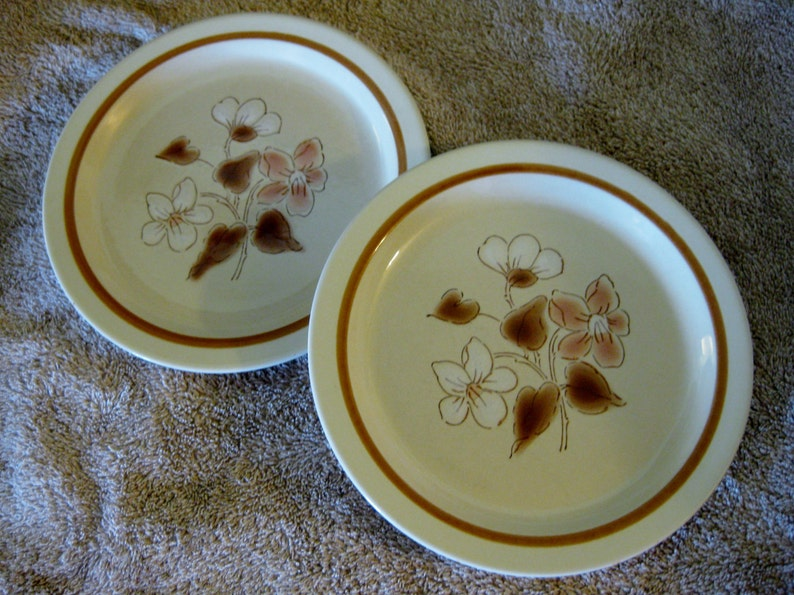 Set of Two Rare Finesse Stoneware Salad  Great Simply Spice Sy-7708