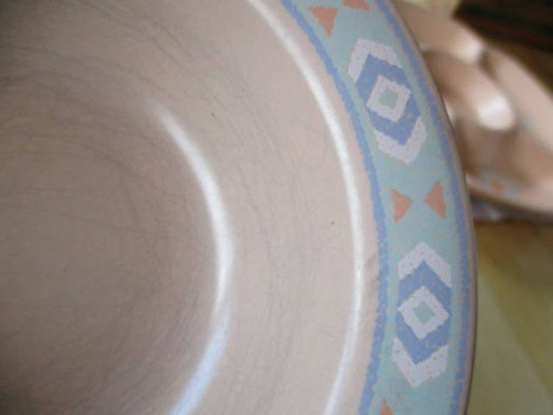 Treasure Craft Southwest Rim Cereal bowls  Peach bowls stoneware bowls  southwest salad cereal  Good China Galore  11 available Use quantity