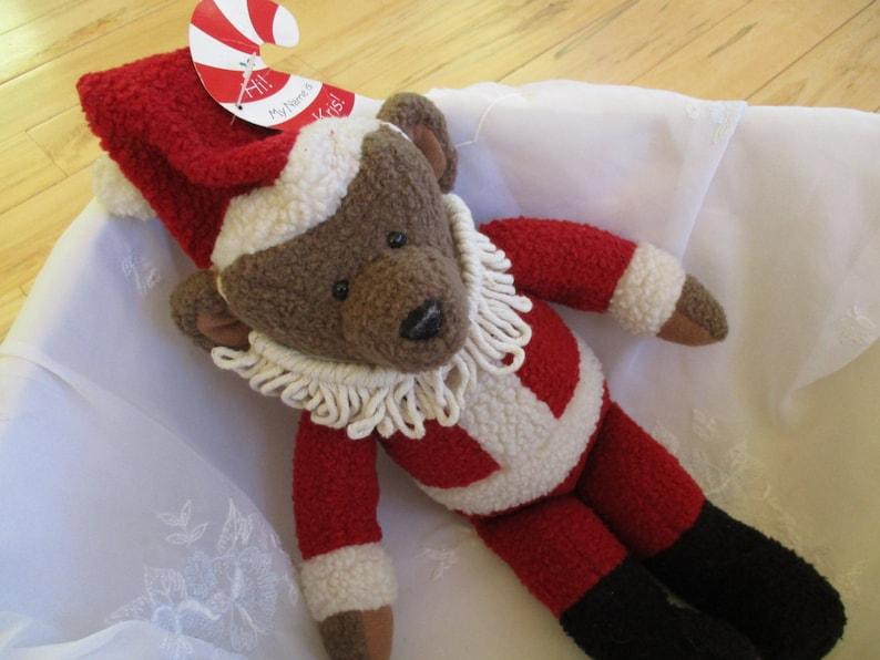 Christmas bear GREAT Hallmark Bear Hallmark Kris the Santa Bear Plush collectible