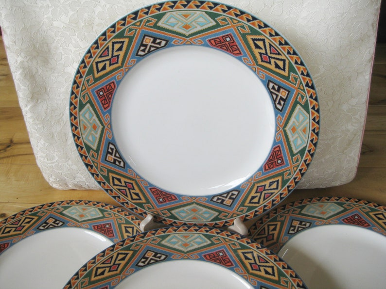 Christopher Stuart Brea  Fine China Salad  Plates Set of 4 Very good  Rare and beautiful TWO sets of 4 available