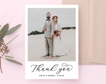 Thank You Cards Wedding Thank You Cards Printable Thank You Cards Personalized DIY Thank You Cards Template