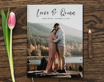 Custom Photo Wedding Guest Book 8x10 Wedding Guest Book Custom Guestbook Unique Guest Book Wedding Gift Livre D'or Marriage