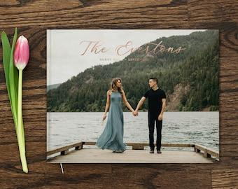 Photo Guest Book 10x8 Personalized Wedding Guest Book Rose Gold Foil Custom Polaroid Guest Book Wedding Gift Custom Photo Guestbook