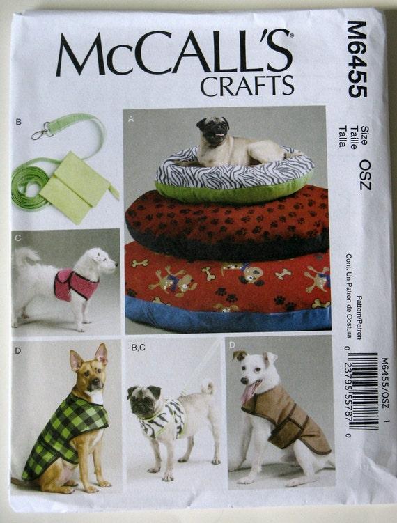 McCall Handwerk für Hunde Nähen Muster M6455 Leine Weste   Etsy
