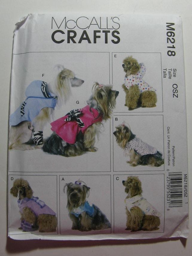 McCalls Nähen Muster M6218 Hundebekleidung Haustier Kleidung   Etsy