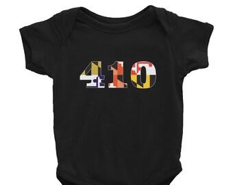 410 Infant Onesie Black
