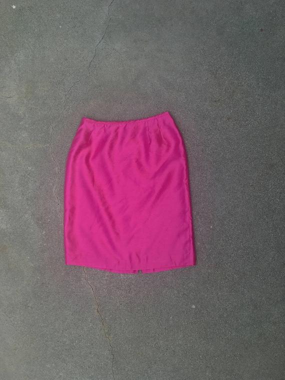 hot pink pencil skirt high waist vintage skirts fo