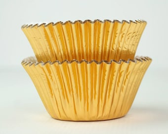 Metallic Gold Foil Cupcake Liners- 45 ct. | Gold Baking Cups | Gold Cupcake Liners | Gold Party Decor