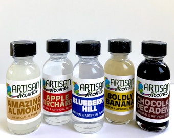 Artisan Accents Flavorings-  1 oz. | Baking Flavorings | Concentrated Flavorings, Extracts