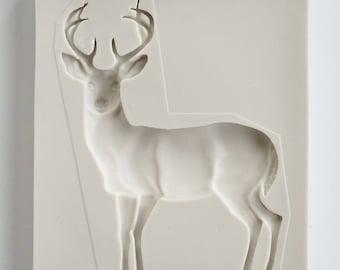 Deer Buck Silicone Mold for fondant and gumpaste sugarcraft, cake decorating