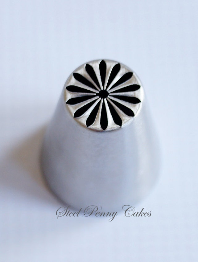 Russian Piping Tip- Multi Petal Daisy | Icing Tip | Frosting Tip | Icing Flower Tip | Russian Style Piping Tips