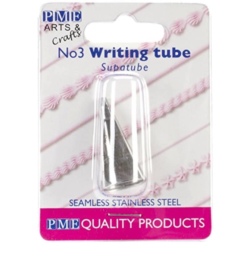 Home & Garden Kitchen, Dining & Bar Pme Writer Tube Stainless Steel Cake Piping Icing Decorating Cupcake Nozzle Tip