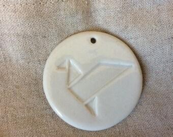 Gray porcelain enamel Medal