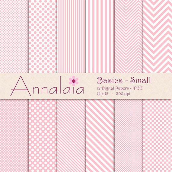 Pink Ballerina Tutus Digital Paper Pack Polka Dots Stripes Chevron Instant Download