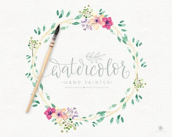 Watercolor Wreaths